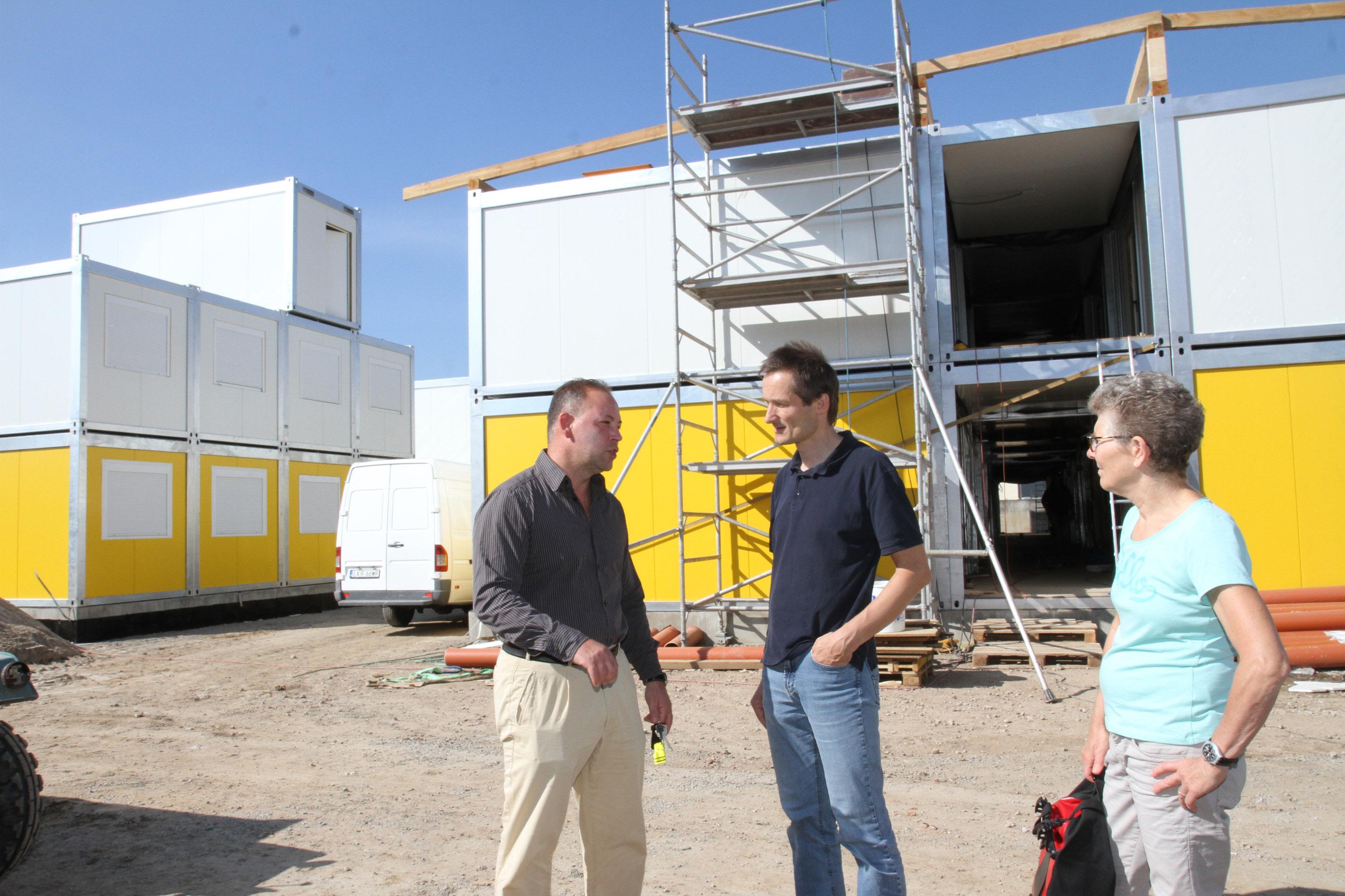 Diskussion um Containerunterkunft in Meckesheim.