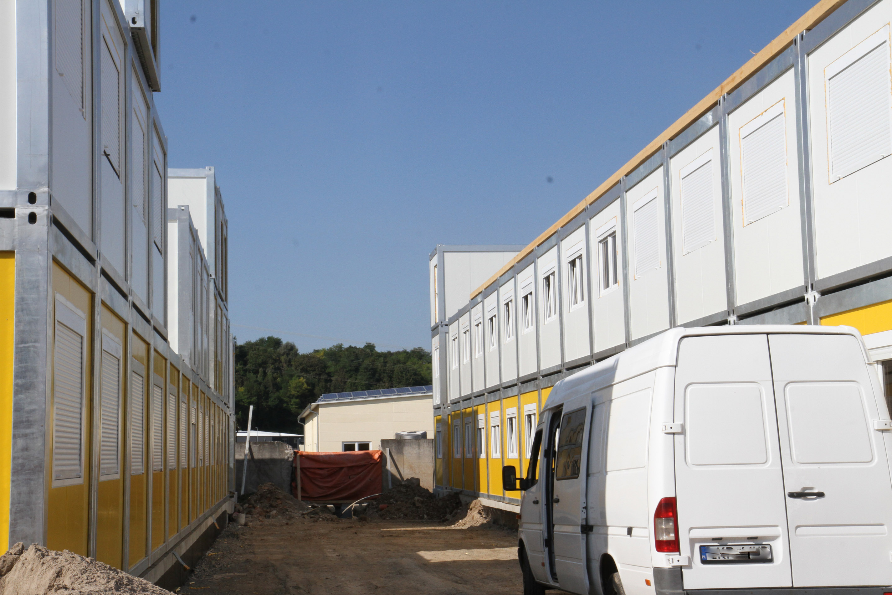 Containerunterkunft in der Dieselstraße in Meckesheim.