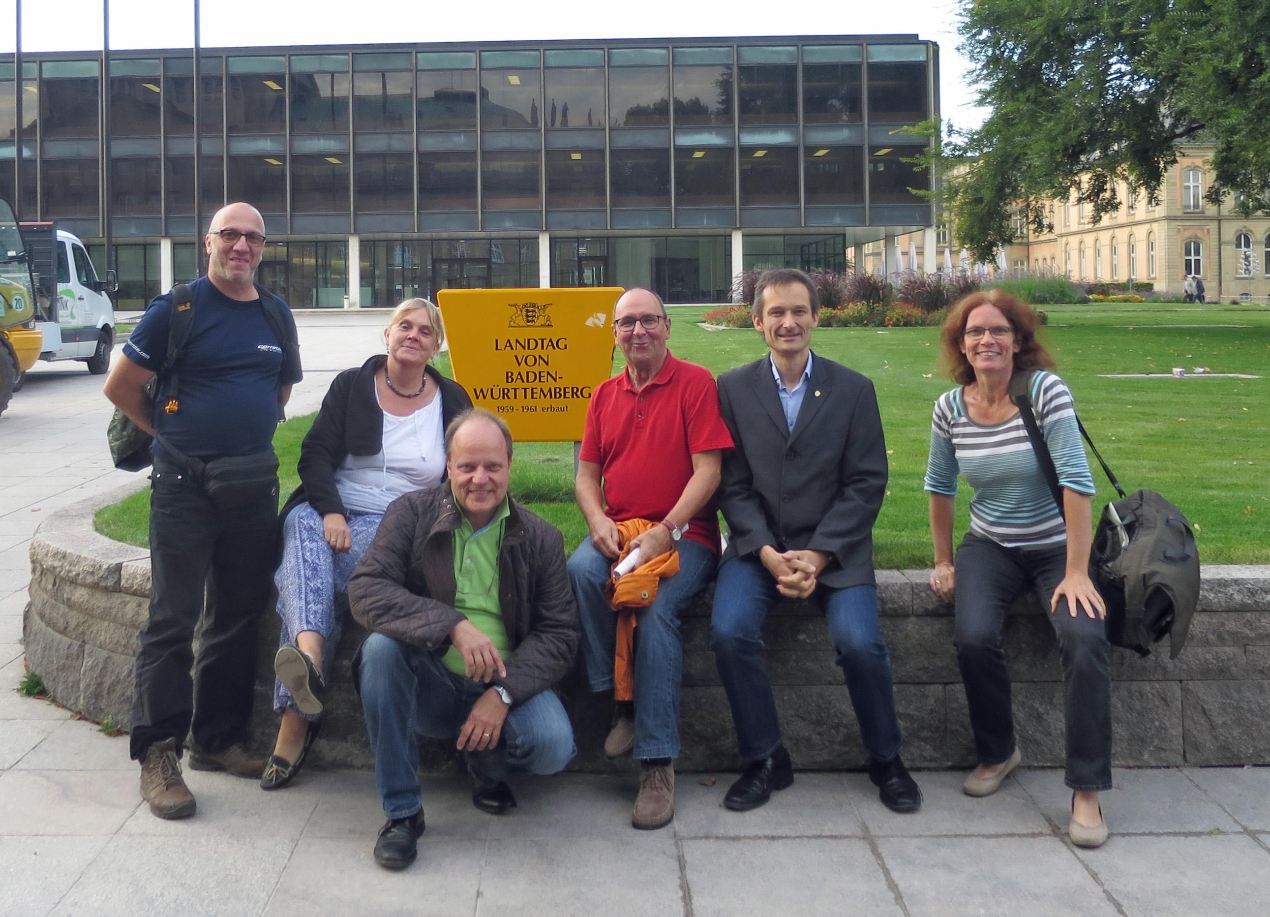 Noch ein Foto vor dem Landtag.