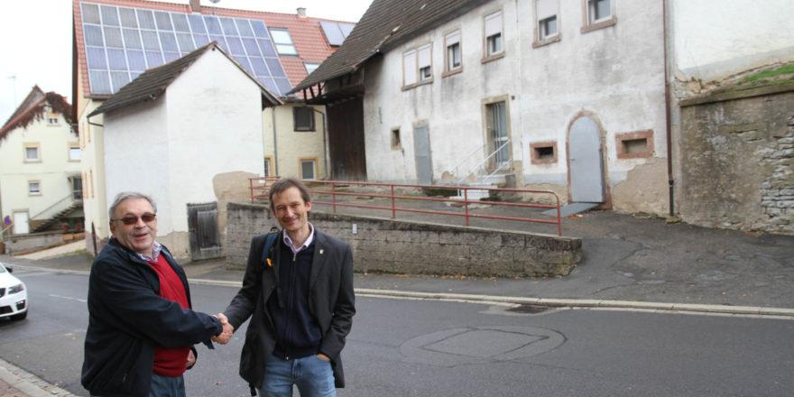 Hermino Katzenstein und Egbert Rudy in Daisbach