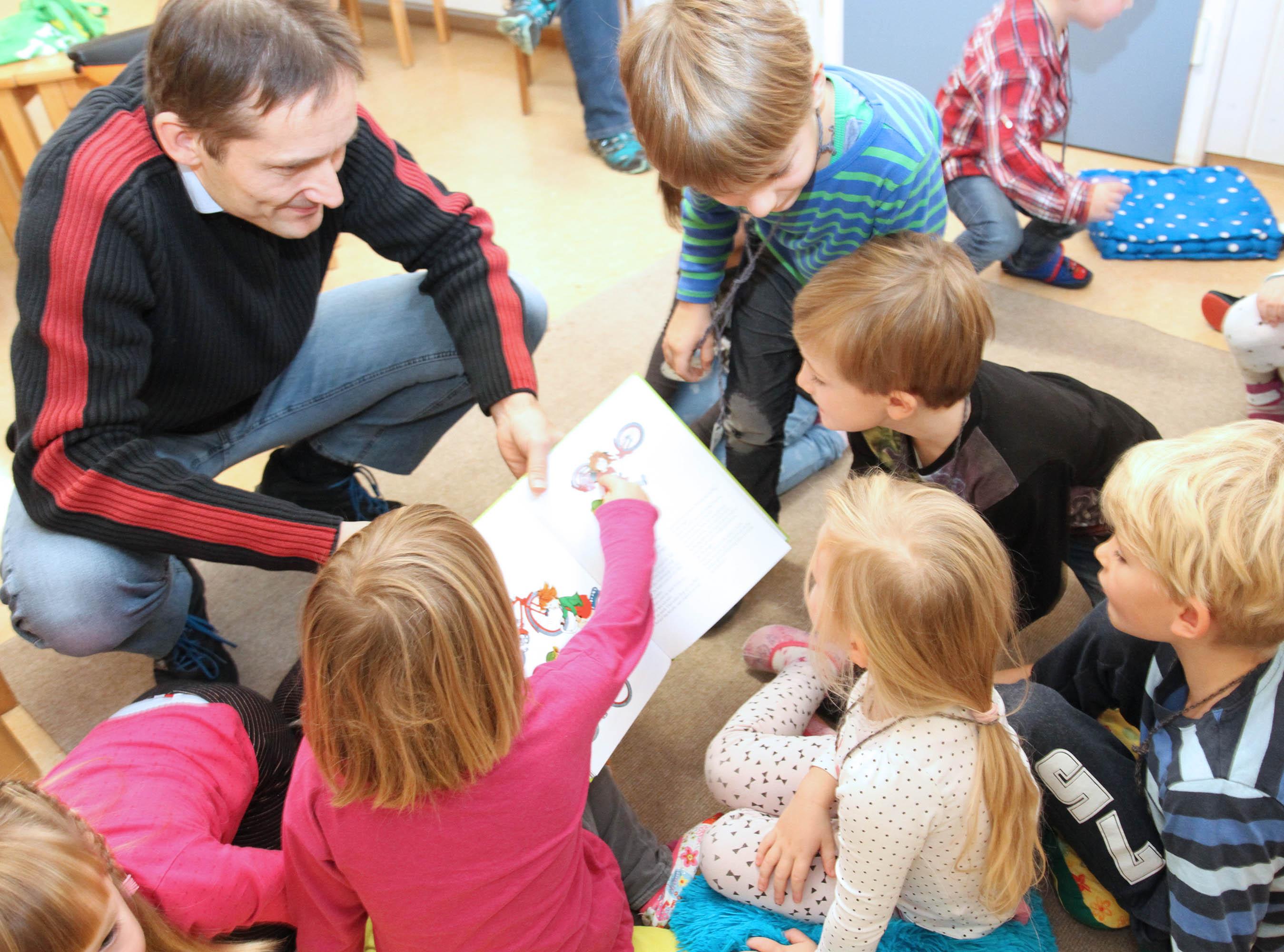 Vorlesetag in der Kita St. Josef Eberbach.
