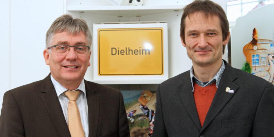 Bei Bürgermeister Hans-Dieter Weis in Dielheim