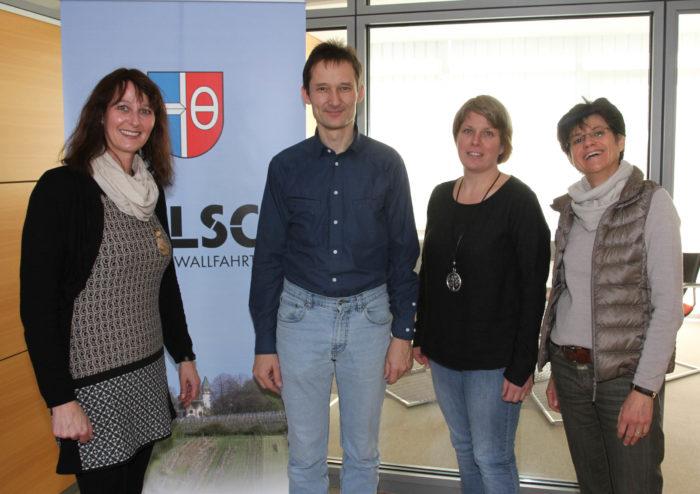 Mit Tanja Becker-Fröhlich und Bettina Lieske bie Bürgermeisterin Sibylle Würfel