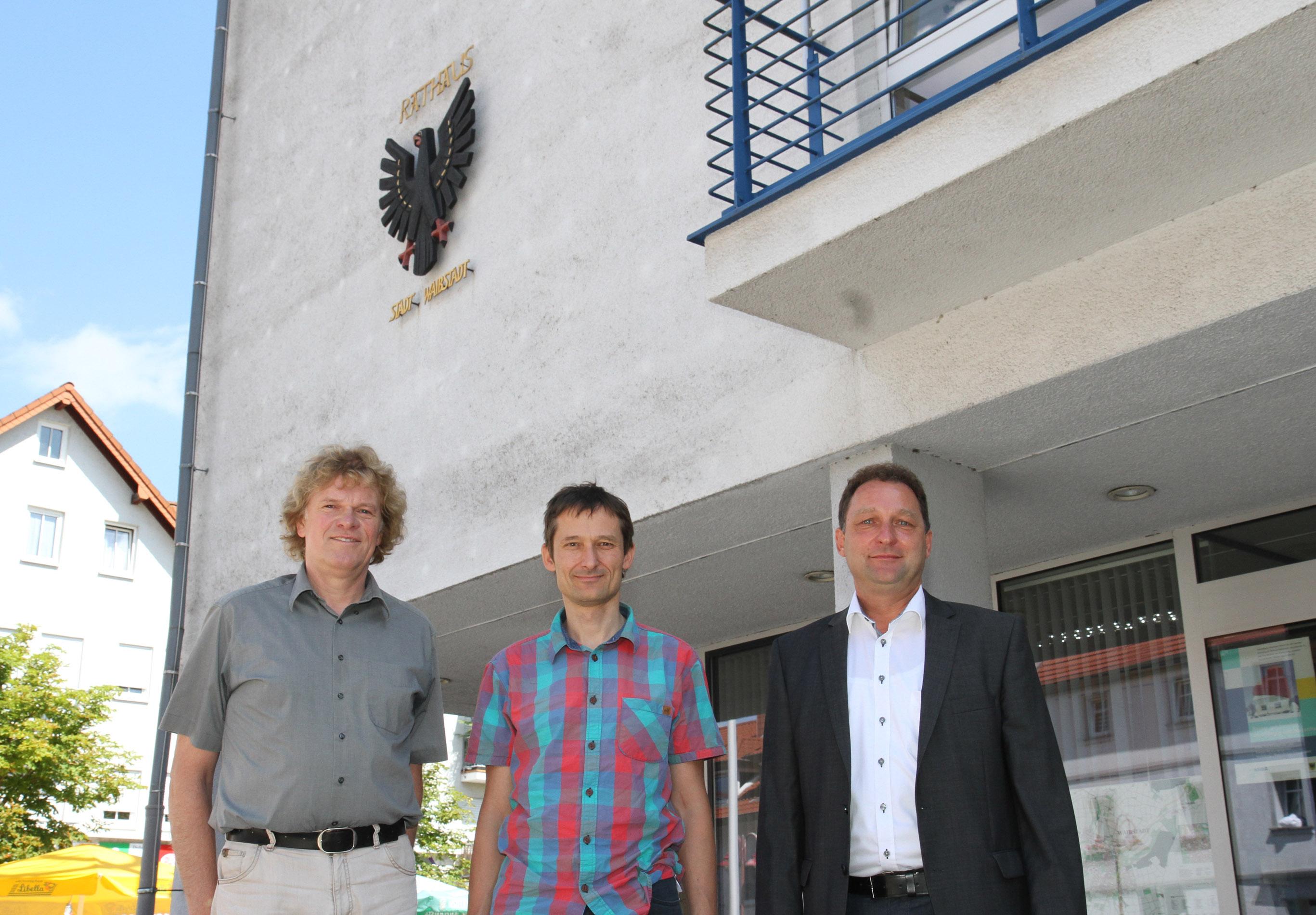 Waibstadt_Winfried Glasbrenner, Hermino Katzenstein und Joachim Locher
