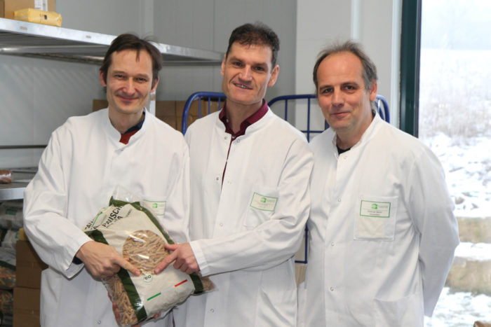Hermino Katzenstein mit Bertold Kohm und Stephan Bader
