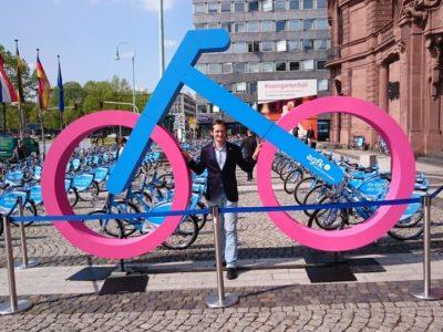 Auf dem Nationalen Radverkehrskongress in Mannheim