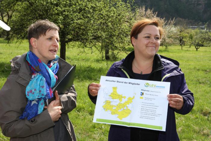 Nadja Salzmann und Katrin Naumann vom LEV Rhein-Neckar