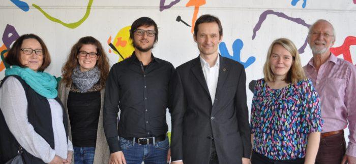 von links: Sylvia Schmid, Stefanie Schnupp, Mike Braun, MdL Hermino Katzenstein, Nicole Floeder und Dietrich Grebbin