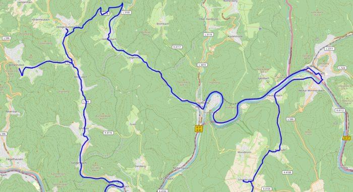 Karte mit dem nördlichen Teil der Wahlkreistour